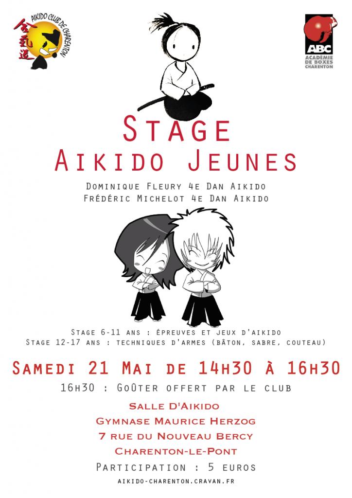 Affiche Stage Fred Dominique enfants NE PAS IMPRIMER